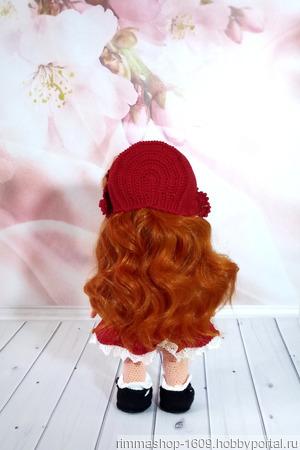 Красная шапочка вязаная ручной работы на заказ