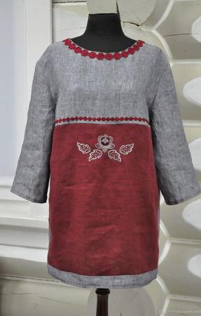 "Блуза ""Русские мотивы"" ручной работы на заказ"