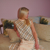 Платье-сарафан бохо с нижней юбкой