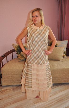 Платье-сарафан бохо с нижней юбкой ручной работы на заказ