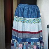 """Летняя юбка """"Бабушкин сундук"""""""