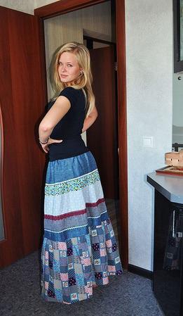 """Летняя юбка """"Бабушкин сундук"""" ручной работы на заказ"""