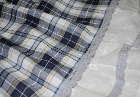 Длинная юбка в клетку ручной работы на заказ