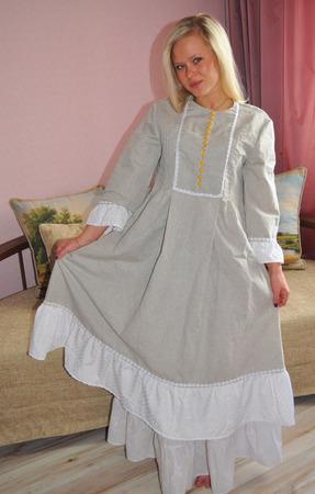 """Платье бохо с нижней юбкой """"Февронья"""" ручной работы на заказ"""