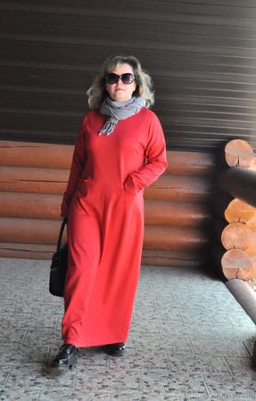 Платье макси из джерси ручной работы на заказ