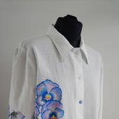 Рубашка женская в технике батик