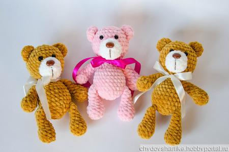 Плюшевые медвежата ручной работы на заказ