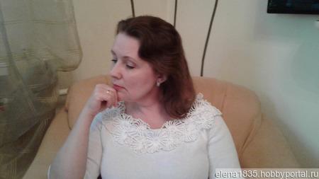 Белая вязаная кофта ручной работы на заказ