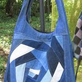 Джинсовая сумка-мешок