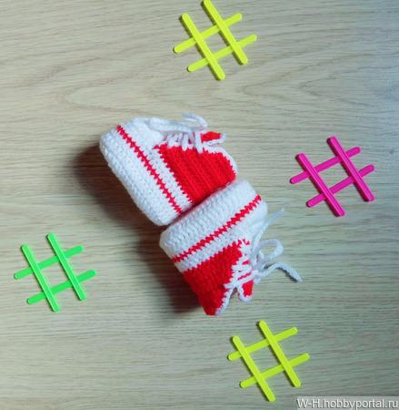 Пинетки-кеды для маленьких спортсменов ручной работы на заказ