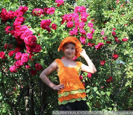 Туника для девочки 5-7 лет ручной работы на заказ