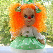 Вязаная кукла Клоунесса