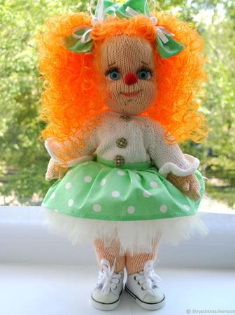 Вязаная кукла Клоунесса ручной работы на заказ