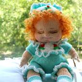 Вязаная кукла Верочка