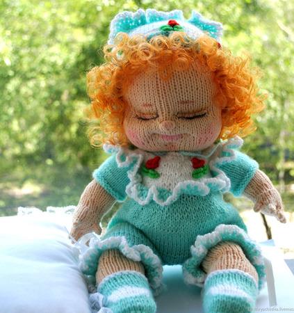 Вязаная кукла Верочка ручной работы на заказ