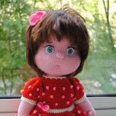 Вязаная кукла Дашенька