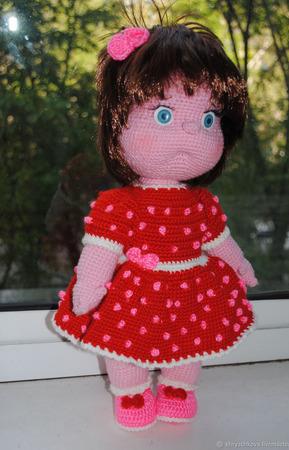 Вязаная кукла Дашенька ручной работы на заказ