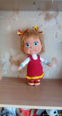 Вязаная  кукла Машенька ручной работы на заказ