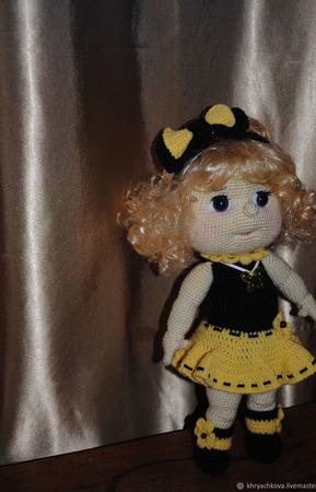Вязаная кукла Татьяна ручной работы на заказ