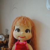 Вязаная кукла Любава