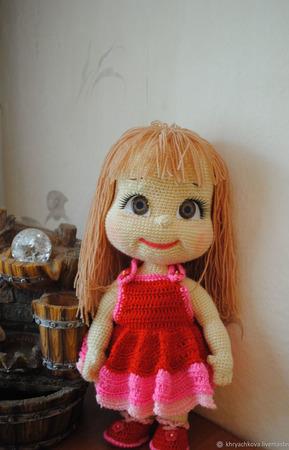 Вязаная кукла Любава ручной работы на заказ