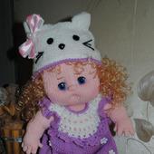 Вязаная кукла  Оленька