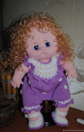 Вязаная кукла  Оленька ручной работы на заказ