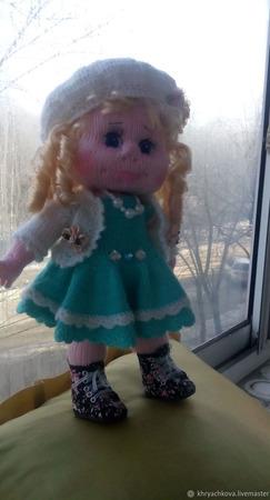 Вязаная кукла Полина ручной работы на заказ