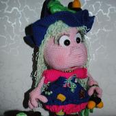 Вязаная кукла Ведьма-заговорщица