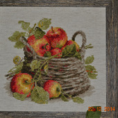 """Картина """"Яблоки в корзине"""""""