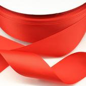 Репсовая лента однотонная, красная