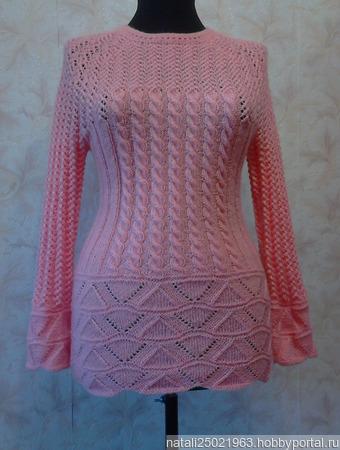 """Пуловер """"Нежный персик"""" ручной работы на заказ"""