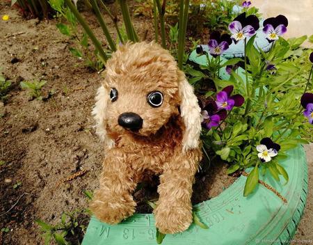 Игрушка щенок спаниель Тим ручной работы на заказ