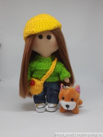 Игровая текстильная кукла Женечка ручной работы на заказ