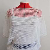 Ажурная блуза-сетка