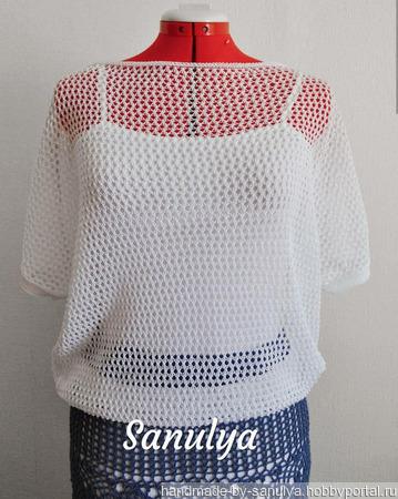 Ажурная блуза-сетка ручной работы на заказ