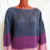 Вязаный свитер оверсайз в стиле ColorBlock