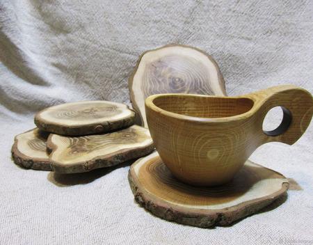 Чашка - дуб ручной работы на заказ