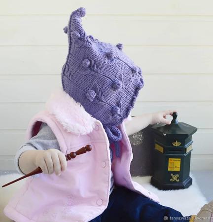 """Чепчик """"Melody"""" вязаный, для новорожденного ручной работы на заказ"""
