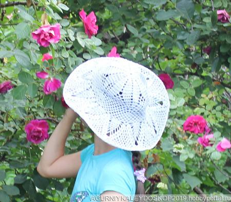 Шляпка от солнца ажурная ручной работы на заказ