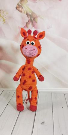 Вязаный жираф ручной работы на заказ