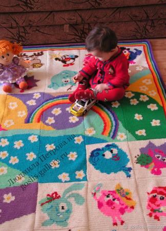 """Развивающий коврик в детскую """"Смешарики"""" ручной работы на заказ"""