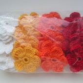 Маленькие цветы вязаные (аппликации, скрапбукинг)-1