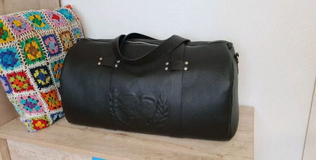 Дорожная сумка из натуральной кожи подарок для боксера ручной работы на заказ