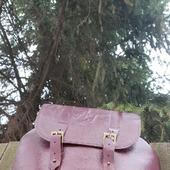 Большой рюкзак из натуральной кожи бордовый