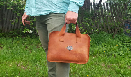 Мужская деловая сумка-портфель из толстой кожи Crazy Horse ручной работы на заказ