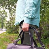 Спортивная дорожная сумка из кожи с именным логотипом Большой Бэн