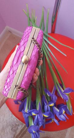 Клатч из натуральной кожи питона ручной работы на заказ