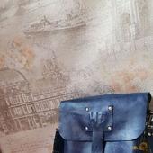 Деловая именная мужская сумка из натуральной кожи для документов