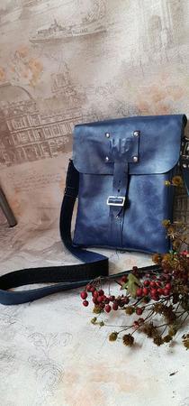 Деловая именная мужская сумка из натуральной кожи для документов ручной работы на заказ